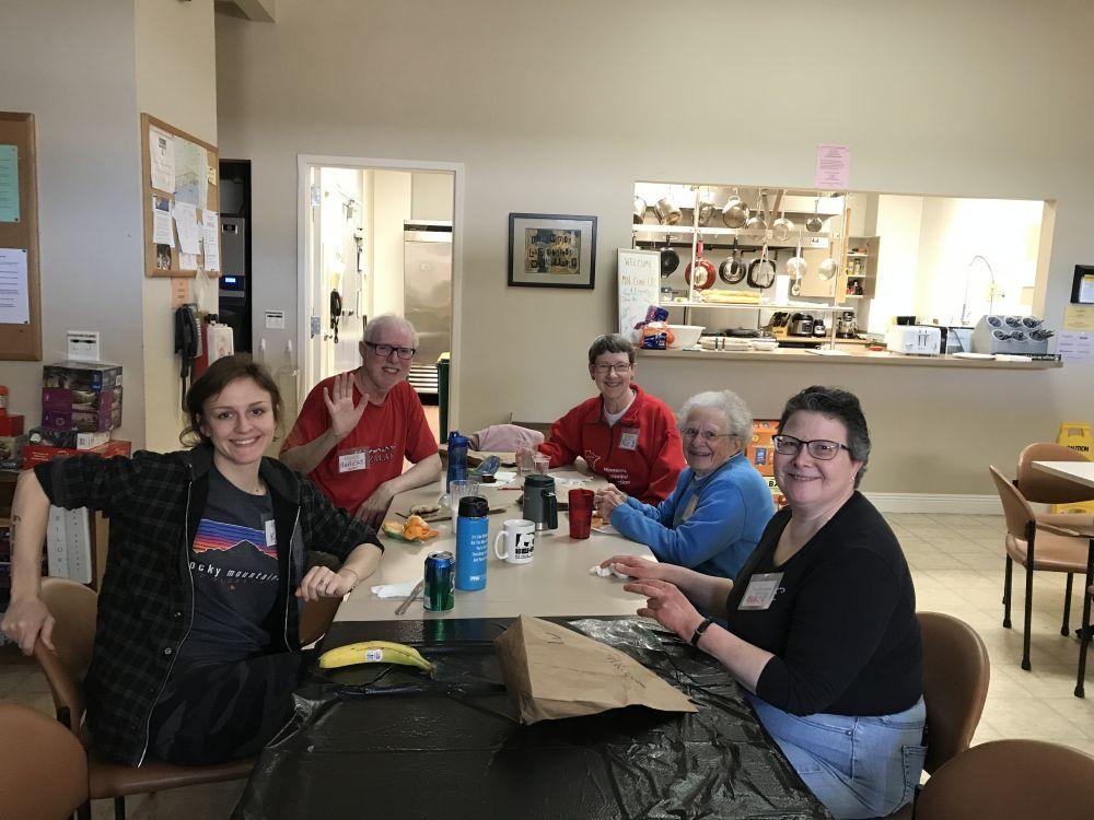Luncheoners Katy Corbin & Robert and Pat Yahnke & Joan Kirchoff & Marce Ediger 1.28.19