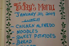 Loaves and Fishes lunch menu 1.30.19