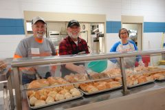 Loaves and Fishes volunteers Mark Westcott & Ken from MI & Bonnie Westcott 1.30.19