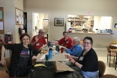Luncheoners Katy Corbin & Robert and Pat Yahnke & Joan Kirchoff & Marce Ediger 1.28.19